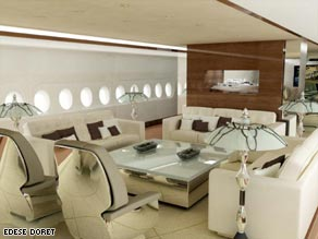 The lavish interior of the custom Airbus A380