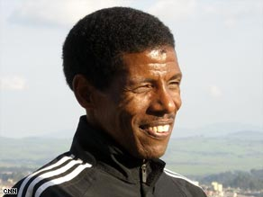 Haile Gebrselassie still trains twice a day, seven days a week.