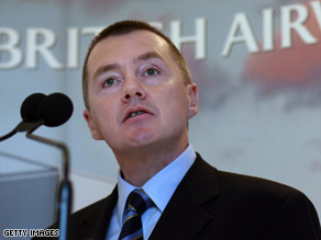 British Airways' chief executive Willie Walsh