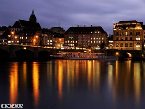 Basel sits on the Rhine at the crossroads of three European countries.
