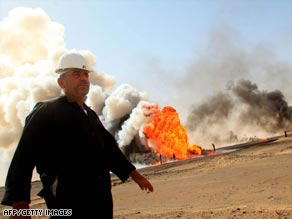 Iraq's oil fields currently produce about 2.5 million barrels a day.