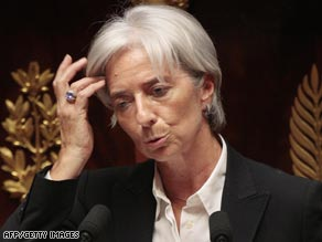 Finance Minister Christine Lagarde said the banks must adopt ethics rules.