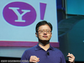 Jerry Yang, Yahoo! co-founder, speaks at an electronics show in Las Vegas in January.
