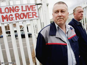 Despite a vociferous campaign by workers MG Rover failed to survive.
