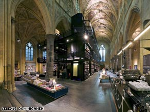 Architects transformed this 13th century church into a stunning bookshop, the Selexyz Dominicanen.