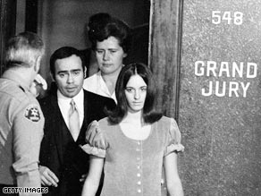 "Susan Atkins is led from a Los Angeles grand jury room after her indictment in the 1969 ""Manson murders."""