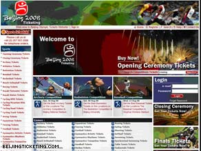 The Web site www.beijingticketing.com is accused in a lawsuit of scamming Olympic ticket buyers.