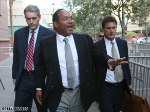 """Co-defendant Clarence """"C.J"""" Stewart speaks at a November hearing in a Las Vegas courtroom."""
