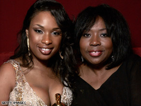 Hudson's publicist confirmed that the actress' mother, Darnell Donerson, right, was killed.