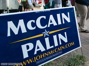 Police say the man's sign is the only McCain sign on a street full of Obama signs.