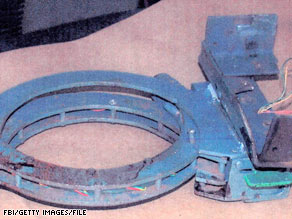 This device held a bomb to the neck of Brian Wells during a 2003 bank robbery in Erie, Pennsylvania.