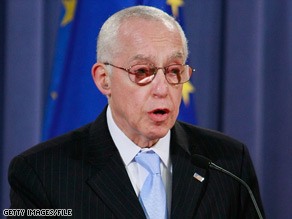 Attorney General Michael Mukasey and European Union representatives announced the sting's results Friday.