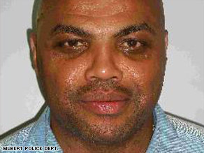 Charles Barkley was driving an Infiniti SUV through a trendy area of Scottsdale on Wednesday, police say.
