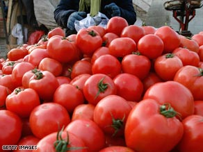At least 48 people have been hospitalized in connection with a salmonella outbreak in tomatoes.