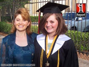 Stephanie Morgan, left, was proud to see her daughter graduate from high school without being pregnant.