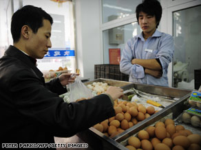 "Chinese consumers were taking the news in stride. ""Stop eating eggs?"" asked one customer. ""That's not doable."""