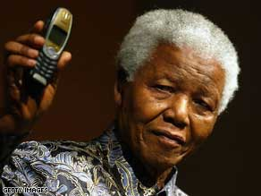 Former South African president Nelson Mandela launched a similar cell phone initiative through his 46664 charity in 2003.
