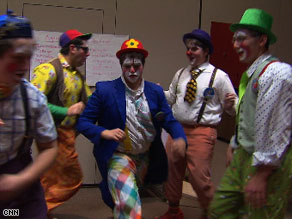 The Lev Leytzan clowns perform for children and patients in hospitals to spread laughter and joy.
