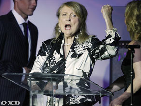 Teri Garr speaks in May at Race to Erase MS, an annual multiple sclerosis fund-raising event.