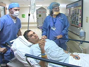 Eric Shanteau said he felt angry when he found out he had testicular cancer.