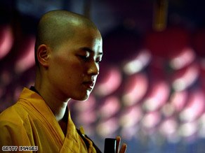 Monks have an ability to generate a feeling of bliss and happiness when they enter a deep state of meditation.