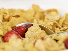 Some breakfast cereals, as well as breads and other grain products, are enriched with folic acid.