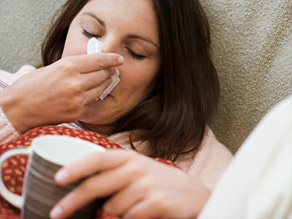 Cold air sometimes causes runny noses, but that's not necessarily a sign of a cold or flu virus.