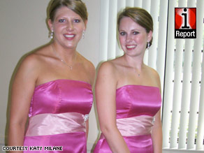 Chandi Brooks decided to let her bridesmaids pick their own black dresses for her 2007 wedding.