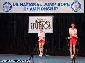 Madison Miller and Scott Simpson skip their way to gold at the USA Jump Rope National Championship in June.