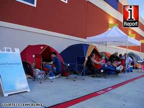 "Sean Blake said he met Black Friday campers in Houston, Texas, who call themselves the ""Best Buy family."""