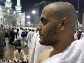 "Habib Allah, 24, of Pakistan, said the hajj ""changed my thoughts about other Muslims from other countries."""
