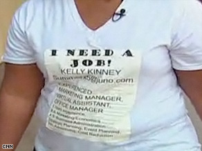 Kinney also posted her resume on her car window and sent postcards to potential employers.