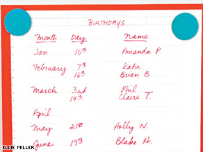 Nine great ways to remember birthdays