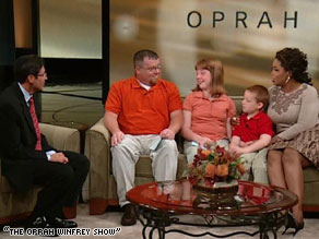 M. Gary Neuman, divorced dad, Gary, his daughter, Daisy, and son, Kris, talk with Oprah Winfrey.