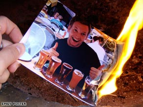 If there is a chance you may get back together with a boyfriend, don't burn his pictures.