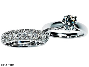 A ring with a solitaire 1 carat diamond can cost up to 90 percent more than one with 1 carat in multiple stones.