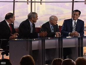 The candidates debate Wednesday at The Reagan Library in California.