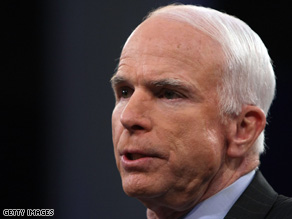 Sen. John McCain says it's time for the federal government &quot;to put our own reserves to use.&quot;
