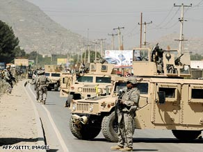 The bill would include $165 billion to fund the wars in Afghanistan, above, and Iraq.