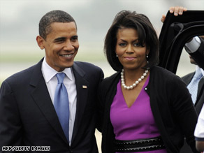 President-elect Barack Obama and his wife, Michelle Obama.