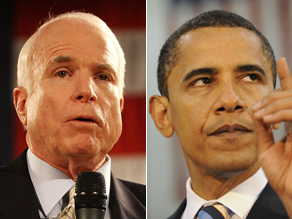 A new poll shows Sens. John McCain and Barack Obama running nearly even among men.