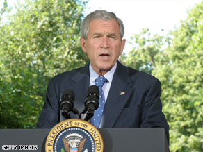 President Bush urges Congress to act quickly on the domestic surveillance legislation Friday.