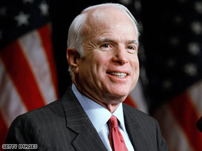 Sen. John McCain is pushing energy efficiency and conservation on the campaign trail.
