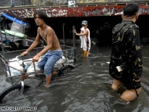 Climate change could increase flooding in coastal areas, like the flooding that hit the Philippines.