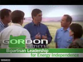 Sen. Gordon Smith, R-Oregon, is hoping to benefit from Sen. Barack Obama in a new ad.