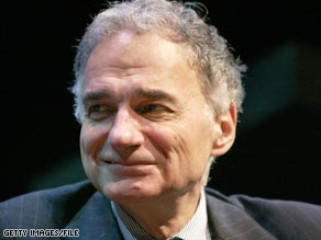 Ralph Nader is running for president as an independent.