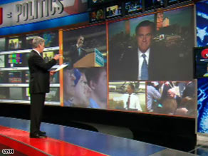 CNN's John Roberts interviews former Massachusetts Gov. Mitt Romney on Thursday.