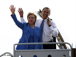 Sen. Hillary Clinton and Sen. Barack Obama leave Washington on Friday for a rally in New Hampshire.