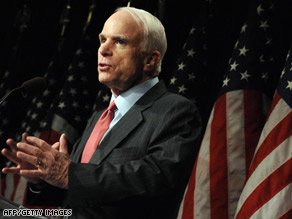 Sen. John McCain will be the keynote speaker at the National Sheriffs' Association's conference in Indiana.