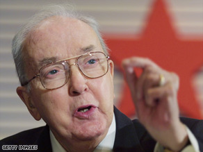 Former U.S. Sen. Jesse Helms, R-North Carolina, was hailed as a leader of the conservative movement.
